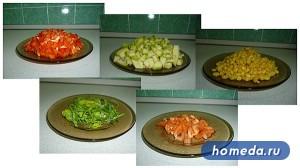 Ингредиенты рецепта кукуруза по Болгарски