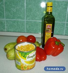 Компоненты для кукурузы по Болгарски